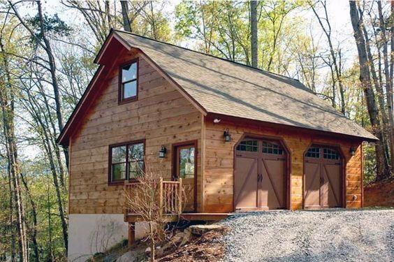Top 60 Best Detached Garage Ideas Extra Storage Designs Garage Loft Garage Design Log Homes