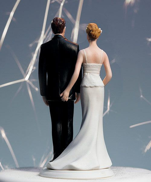 """The Love Pinch"" Bridal Couple Figurine - Ha ha, I love thiss"