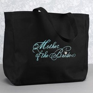 Make sure you thank your mom with this Mother of the Bride tote ready to be filled with goodies.