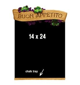 Italian Salute Grape Laden Kitchen Wall Plaque To Your Health Sculpture
