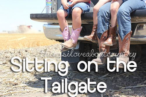 sitting on the tailgate