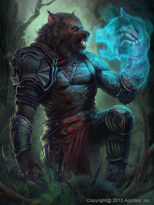 Licantropo Werewolf Wolf Man Shaman wolf fantasy ghost Fantasy amp SciFi Art Pinterest