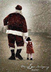 Santa and little girl...