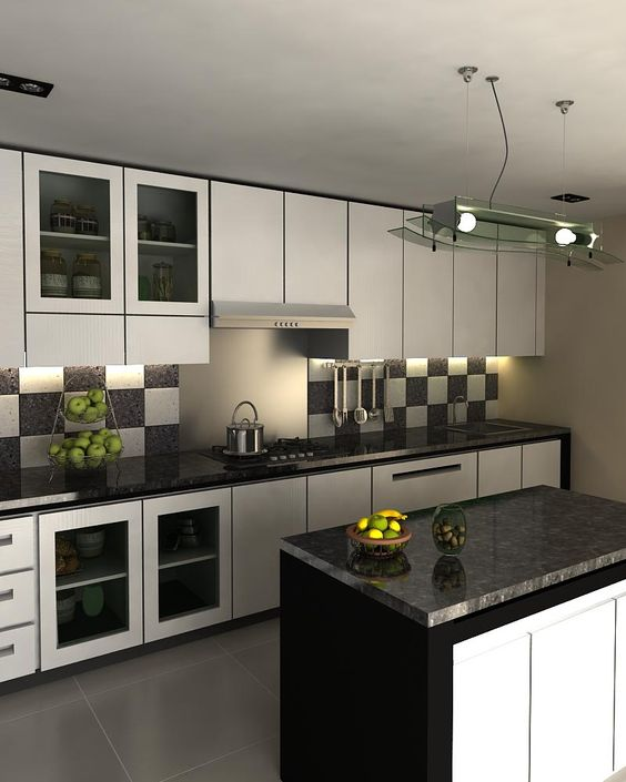 interior dapur kitchen set minimalis  eksterior, interior,Black Kitchen Set,Kitchen ideas