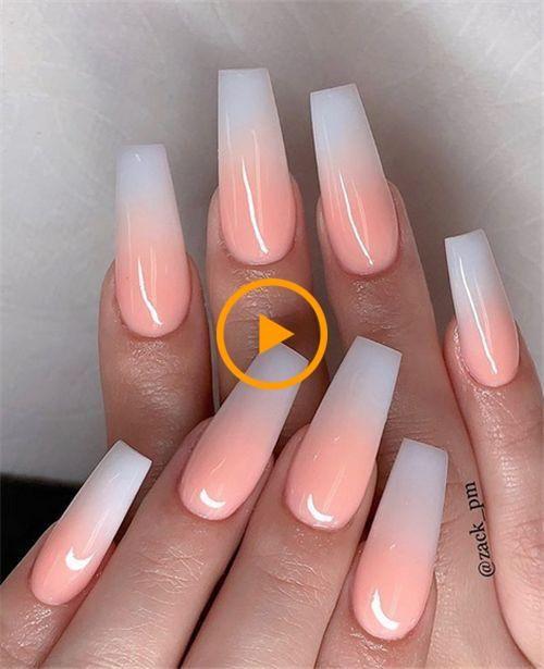35 Best Ideas For Your Summer Ombre Nails Nail Art Connect Long Hair Manicura De Unas Unas Postizas De Gel Unas De Gel Cuadradas