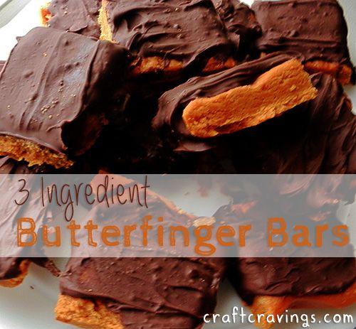 3 Ingredient Butterfinger Bars (recipe ) - Craft Cravings