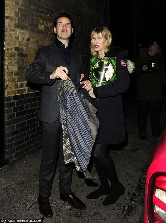 Date night delight: Comedian Jimmy Carr treated his girlfriendKaroline Copping, a commiss...