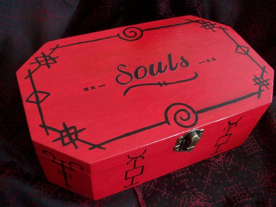"""Supernatural Inspired """"Souls"""" Red And Black Curse Box by NightShadexDesigns on Etsy"""