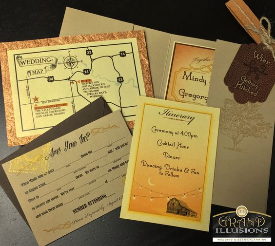 Custom Invitations.  Have an idea of what you want, but you can't find it anywhere??  Call us, we can make your vision a reality.