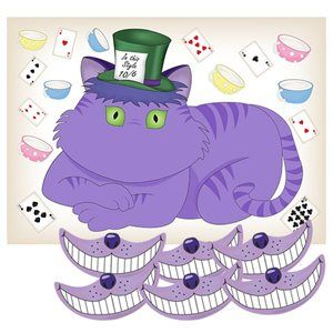 Mad Hatter's Tea Party Ideas -- Stick the smile on the Cheshire Cat