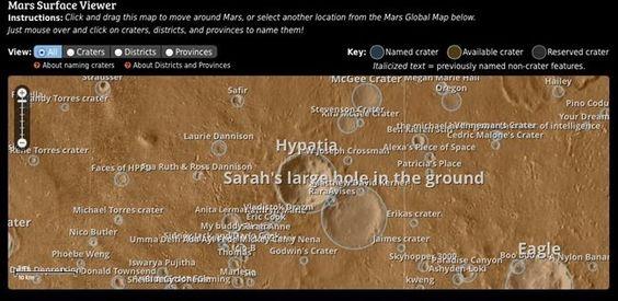 Mapa de Marte incluye ya los nuevos nombres de sus cráteres http://jighinfo-ciensp.blogspot.com/2014/03/mapa-de-marte-incluye-ya-los-nuevos.html