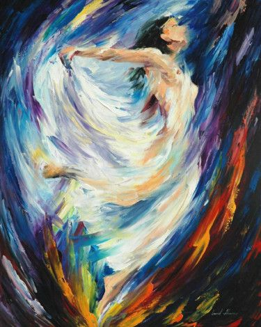 """Angel of Love — PALETTE KNIFE Figure Oil Painting On Canvas By Leonid Afremov - Size: 24"""" x 30"""" (60c"""