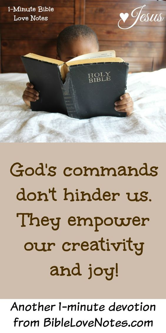 God Rules! God's commands empower our joy and creativity