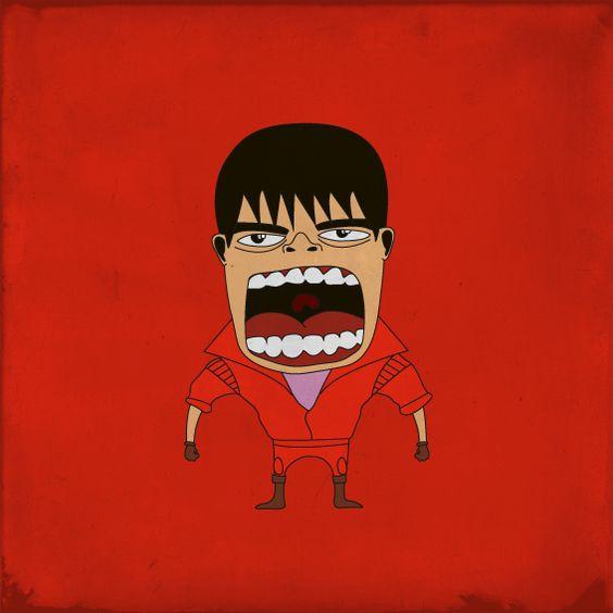 """Tetsuooooooo...."" from the Screaming Superheroes series by Roberto Salvador."