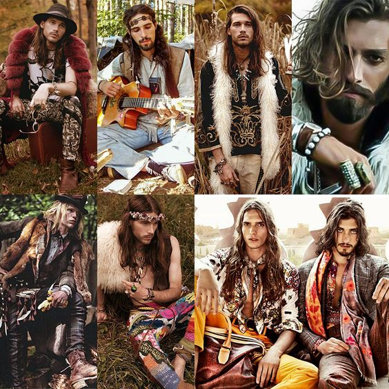 men's bohemian hippie style
