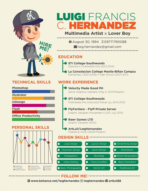 Creative Cool Resume Template For Multimedia Artist Resume Design Creative Resume Design Resume Design Free
