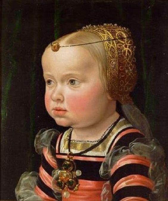 Jacob Seisenegger (1504-1567)  —Archduchess Eleonore, Duchess of Mantua, Aged 2 (582x700)
