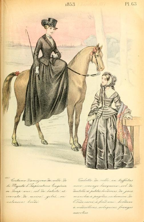 Riding habit: La Mode Pendant Quarante 1853