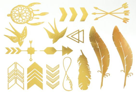 Flash Metallic Tattoo 10   Native American Inspired Temporary Tattoos