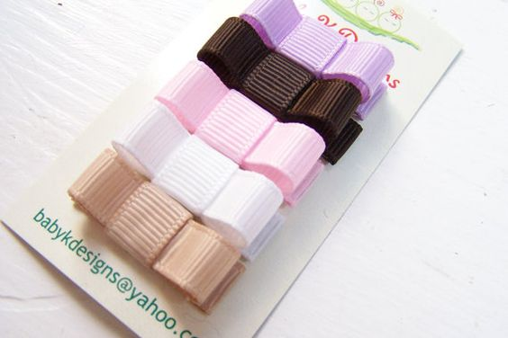 SAVE 15% Baby Clips. Baby Bow. Baby Snap by BabyKDesigns on Etsy