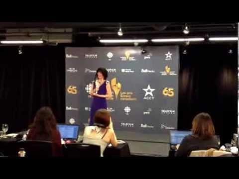 Gabrielle Marion-Rivard aux Prix Écrans canadiens/Canadian Screen Awards