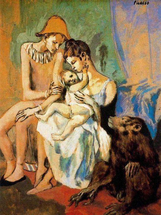 Picasso - Familia de Acróbatas con mono