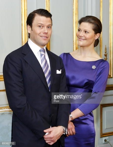 Daniel Westling pulls a face at the announcement of his wedding to Crown Princess Victoria