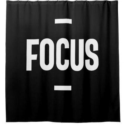 Entrepreneur Motivational Gift Focus Shower Curtain Zazzle Com