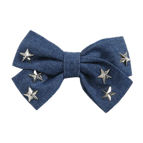 Gem Bella Metal clip Pin with Bow and Star Studs | Shopko.com