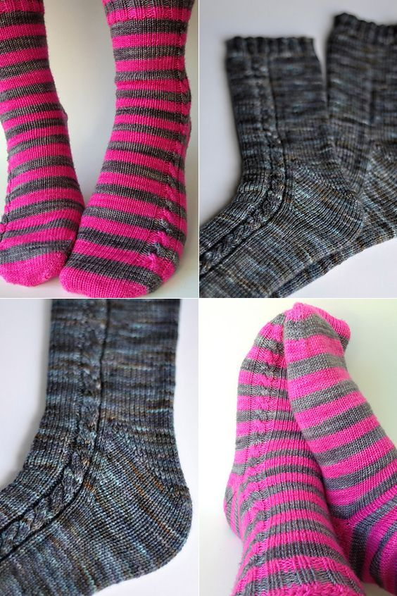 Free Two Needle Sock Knitting Patterns : A plane, Circular needles and Planes on Pinterest