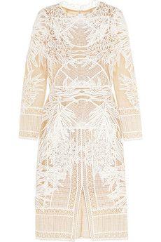 Erdem Henrike guipure lace midi dress | THE OUTNET