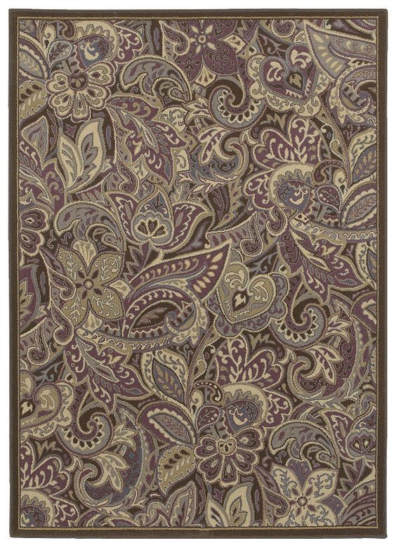"Area rug in the HGTV HOME Flooring by Shaw collection style ""India"" color Purple."