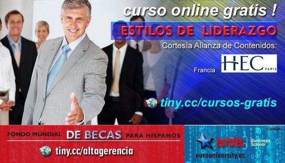 CURSO ONLINE GRATIS | ESTILOS DE LIDERAZGO | Solicitar acceso: http://becas-eurotec.wix.com/eurotec#!fmbh/co66