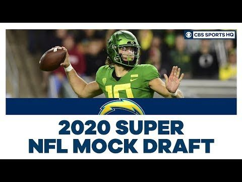 Chargers Select Justin Herbert No 6 Overall 2020 Super Nfl Mock Draft Cbs Sports Hq Los Angeles Has A New Quarterback After Parti In 2020 Cbs Sports Cbs Mocking