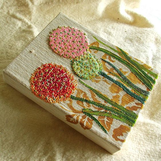 Allium flora embroidery by Smallest Forest