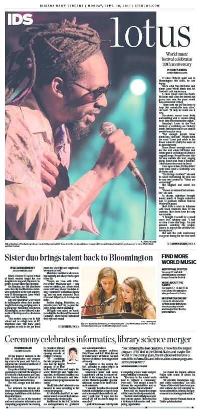 September 30, 2013 | Indiana Daily Student | #IU #IDS