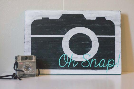 Oh Snap Camera Decor by treasureHUNTcreation on Etsy