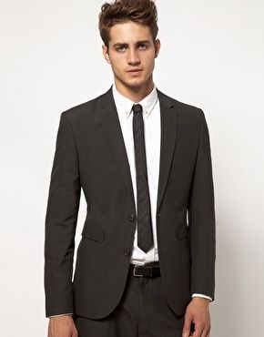 Slim Fit Suit Jacket in Charcoal | ASOS, Skinny ties and Slim fit