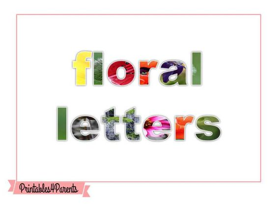 Here are some free printable letters for your children, featuring original Printables4Parents photography.