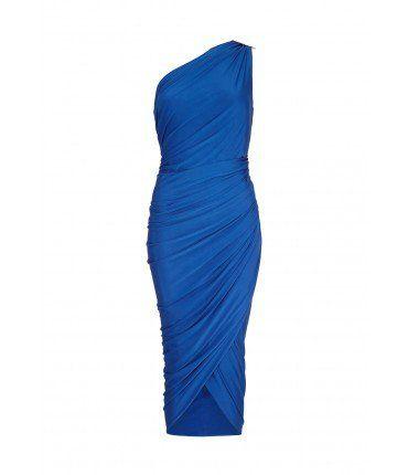 Forever Unique Kayden Blue Drape Dress