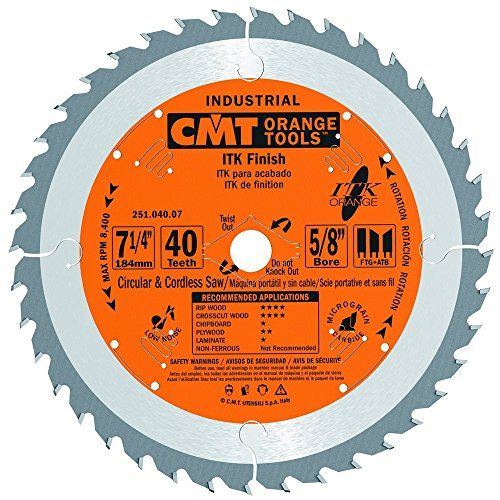 Cmt 251 040 07 Itk Industrial Finish Saw Blade 7 1 4 Inc Https Www Amazon Com Dp B000p4o76o Used Woodworking Tools Table Saw Essential Woodworking Tools