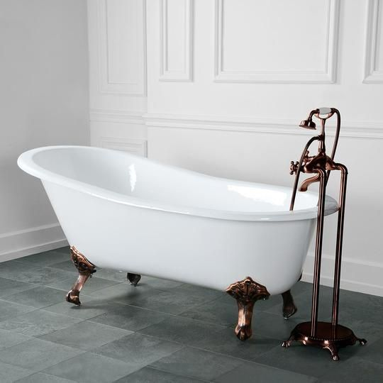 54 Henderson Cast Iron Slipper Clawfoot Tub In 2020 Japanese