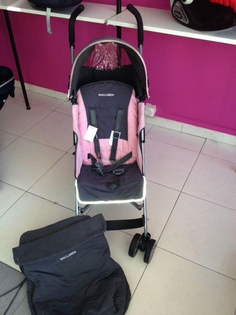 Impecable silla maclaren gris rosa con saco de invierno de la misma marca en color gris - Sacos para silla maclaren ...