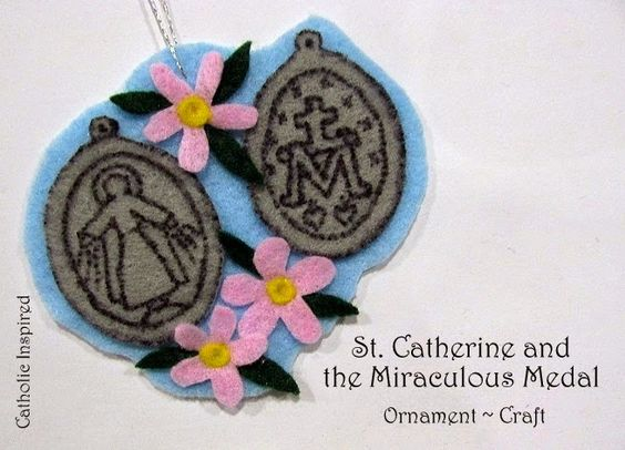 St. Catherine and the Miraculous Medal Craft {Litu...