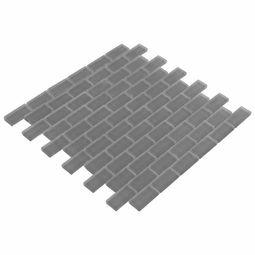 Pure Shadow Brick Matte Mosaic Glass Tile 8mm