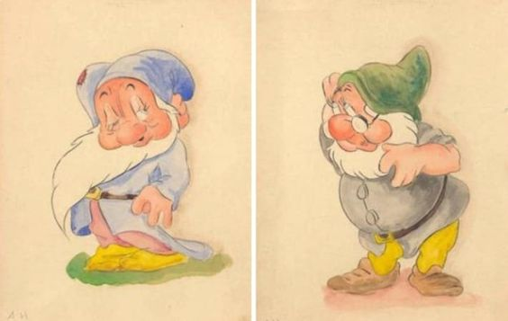 Hitler's drawings of 'Snow White' characters