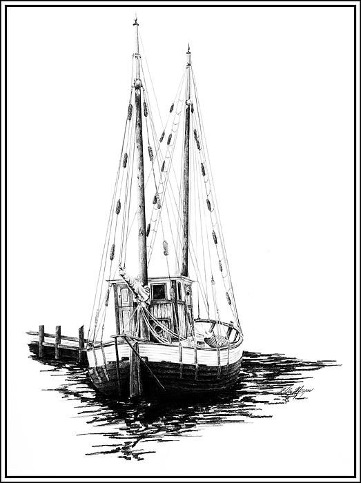 Boat drawing fishing boats and boats on pinterest for How to draw a fishing boat