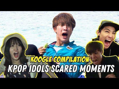 K Pop Idols Funniest Scared Moments Kpop Compilation Kpop Idol Kpop Idol
