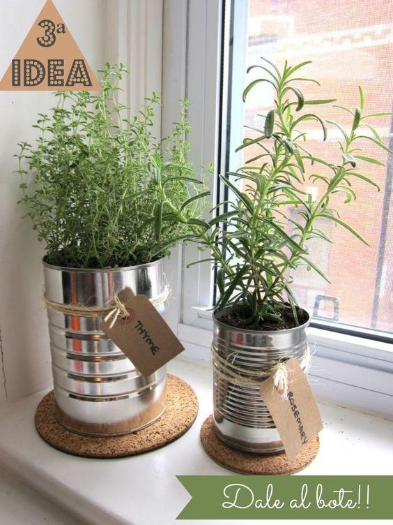 Like the handmade tag idea wrapped outside the planter