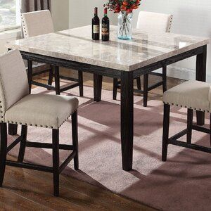 Wilber Marble Counter Height Dining Table Counter Height Dining Table Marble Top Dining Table Dining Table